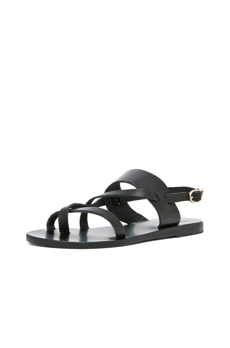 Image 2 of Ancient Greek Sandals Alethea Calfskin Leather Sandals in Black