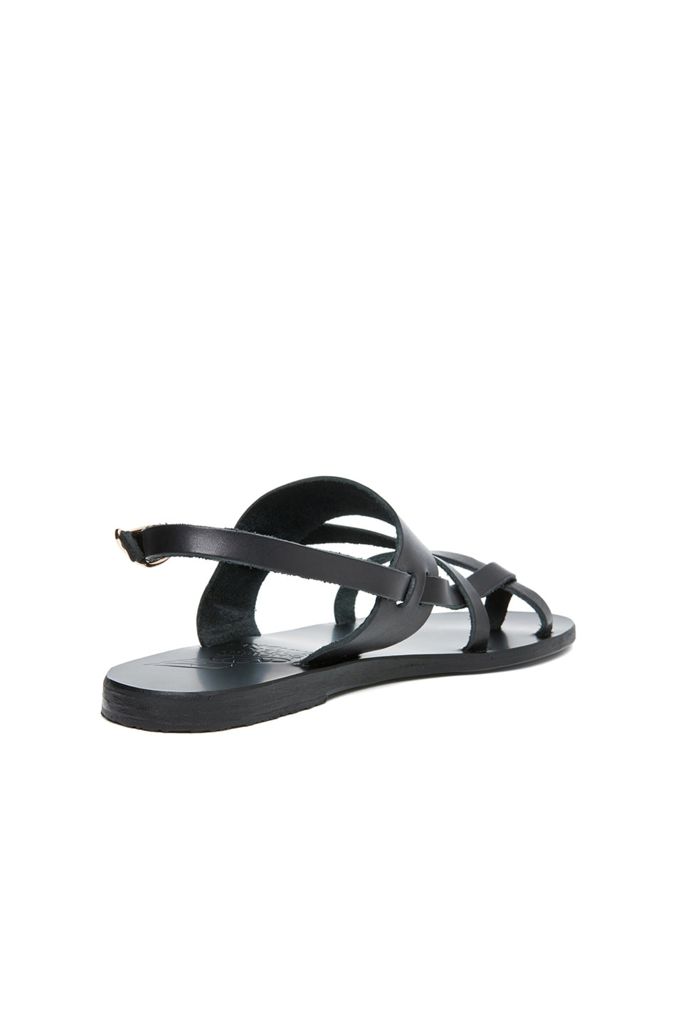 Image 3 of Ancient Greek Sandals Alethea Calfskin Leather Sandals in Black