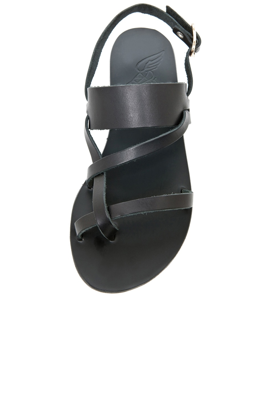 Image 4 of Ancient Greek Sandals Alethea Calfskin Leather Sandals in Black