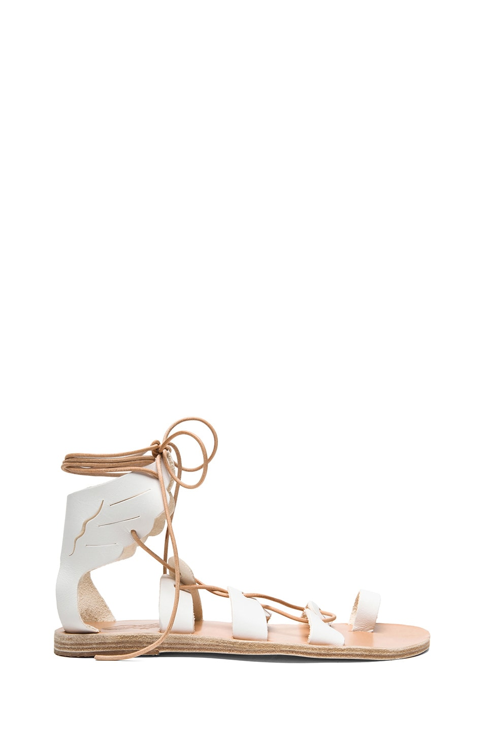 Image 1 of Ancient Greek Sandals Fteroti Calfskin Leather Sandals in White