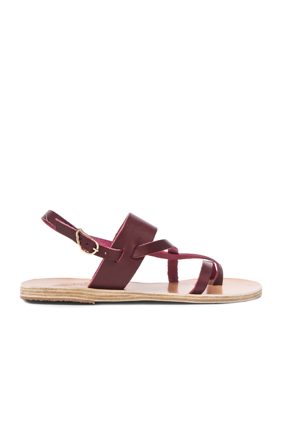 Image 1 of Ancient Greek Sandals Alethea Leather Sandals in Burgundy