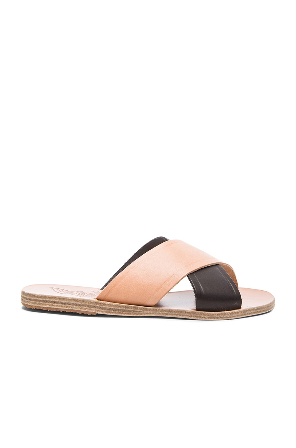 Image 1 of Ancient Greek Sandals Thais Leather Sandals in Natural & Black