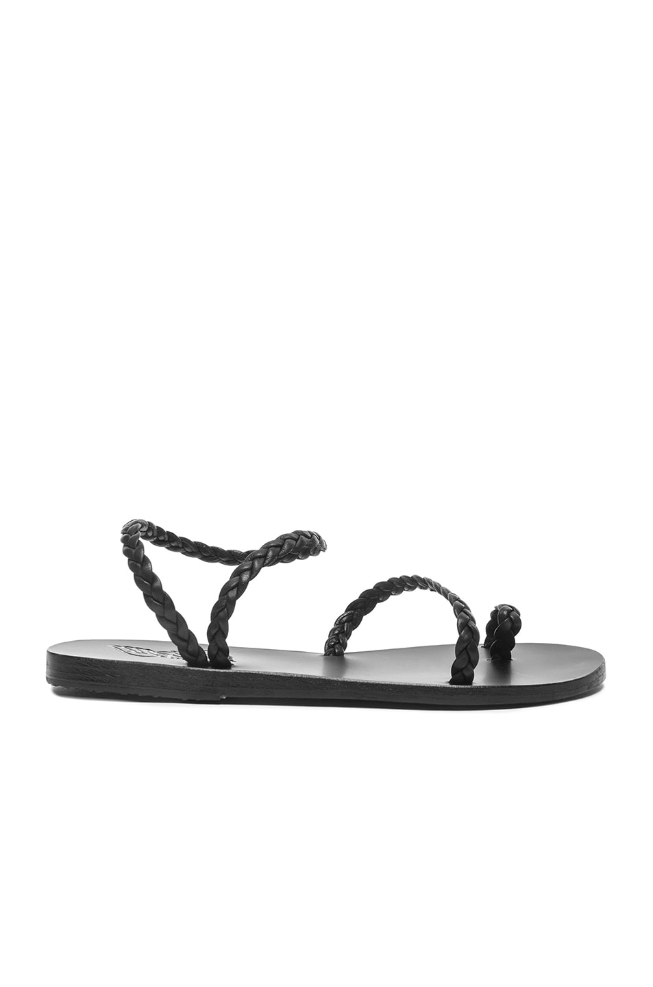 Image 1 of Ancient Greek Sandals Eleftheria Leather Sandals in Black