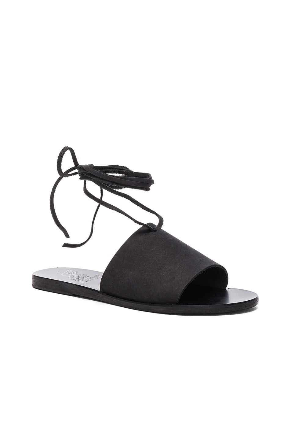 Image 2 of Ancient Greek Sandals Leather Christina Sandals in Black