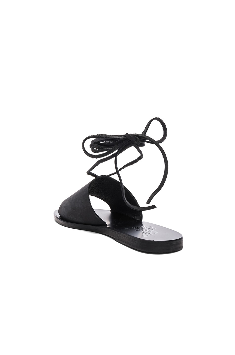 Image 3 of Ancient Greek Sandals Leather Christina Sandals in Black