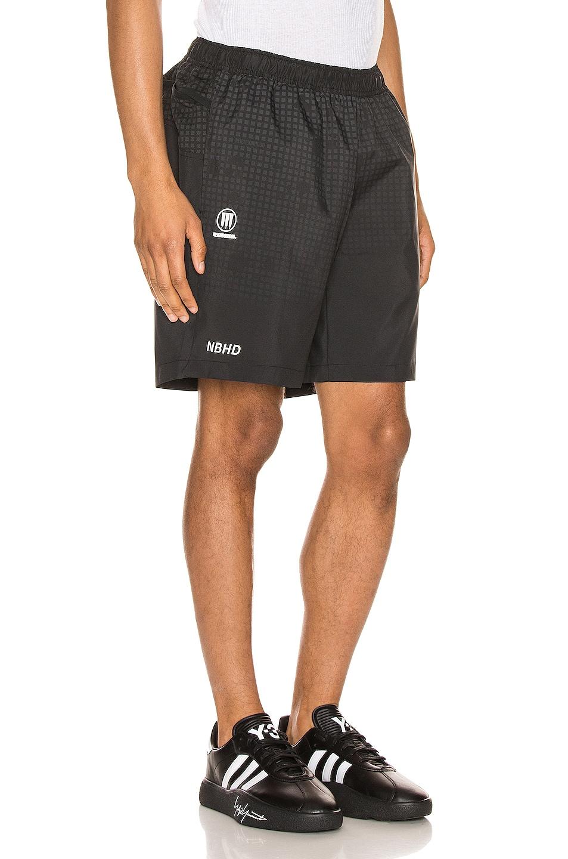 Image 3 of adidas Neighborhood Run Shorts in Black