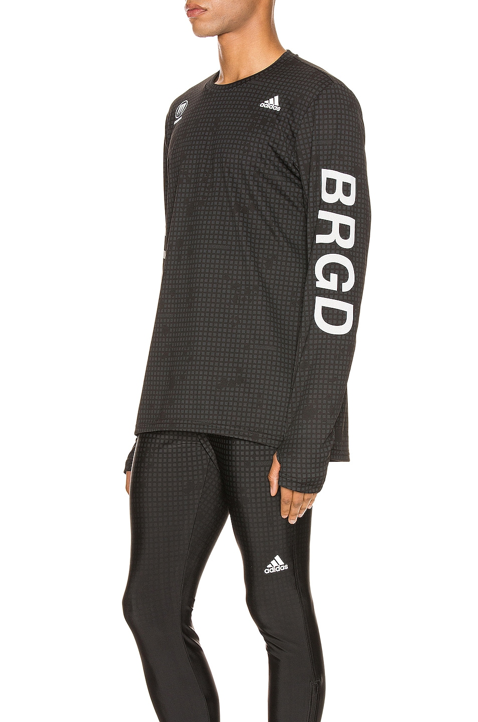 Image 3 of adidas Neighborhood Compression Tee in Black
