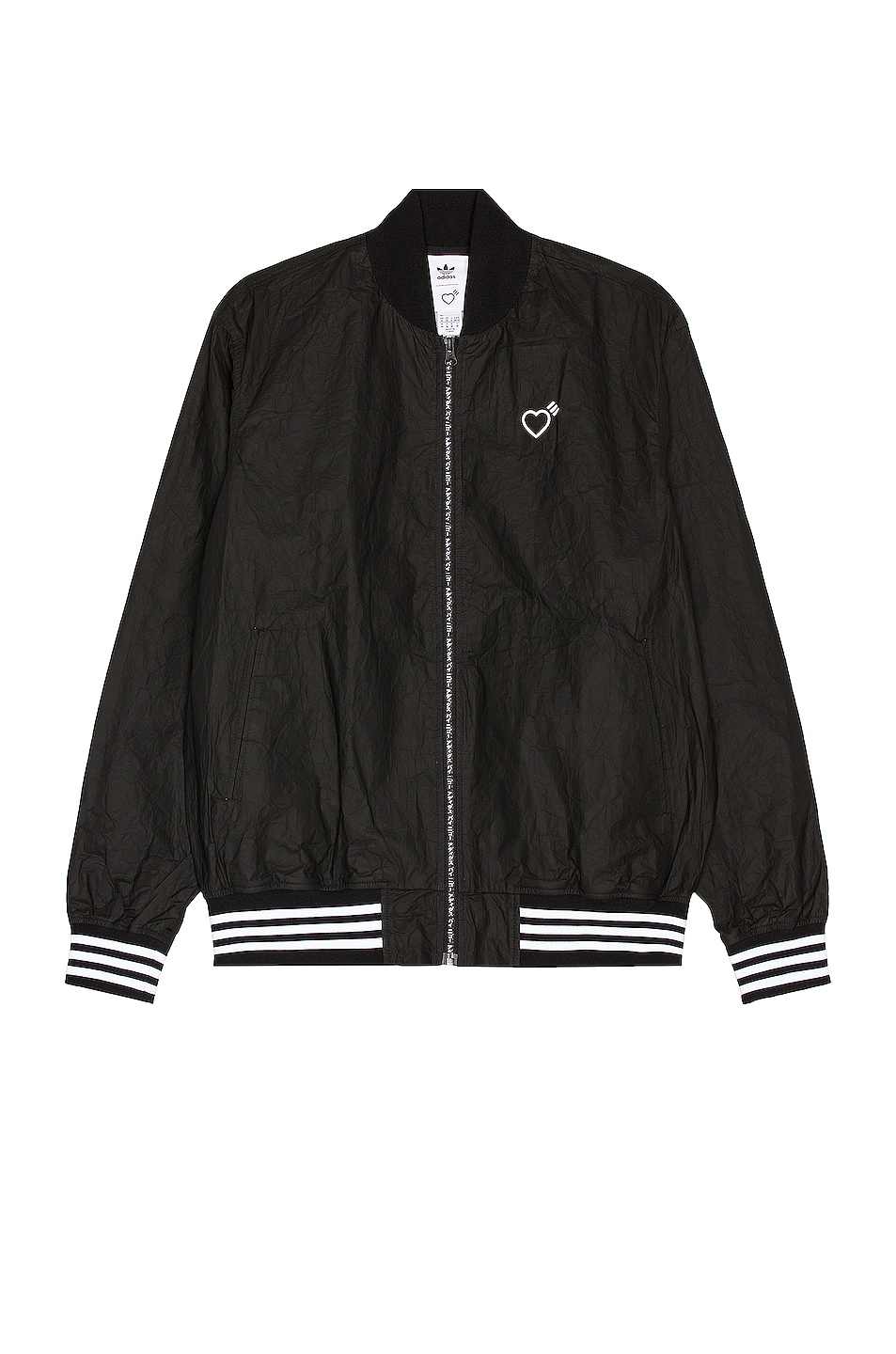 Image 1 of adidas x HUMAN MADE Tyvek Track Top in Black
