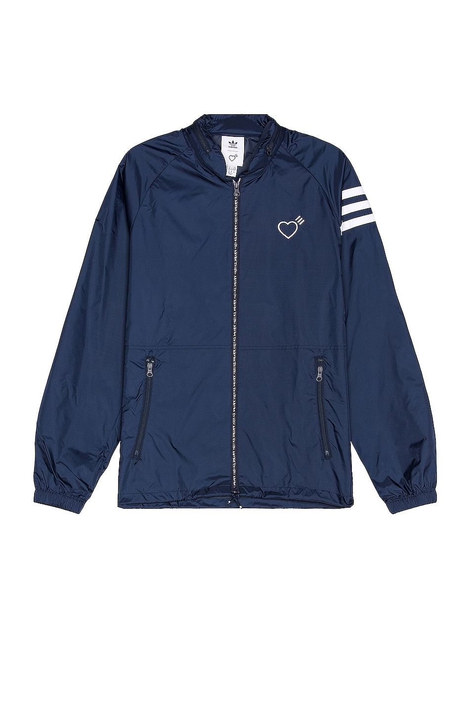 Image 1 of adidas x HUMAN MADE Windbreaker in Collegiate Navy