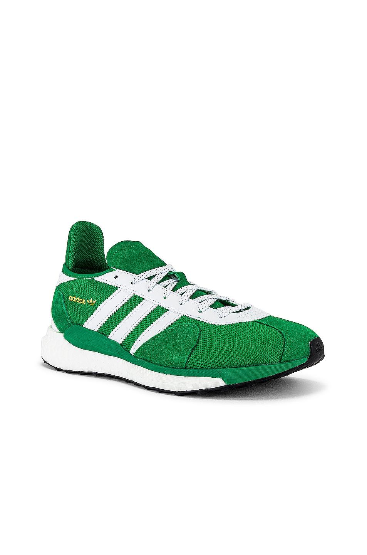 Image 1 of adidas x HUMAN MADE Tokio Solar Sneaker in Green