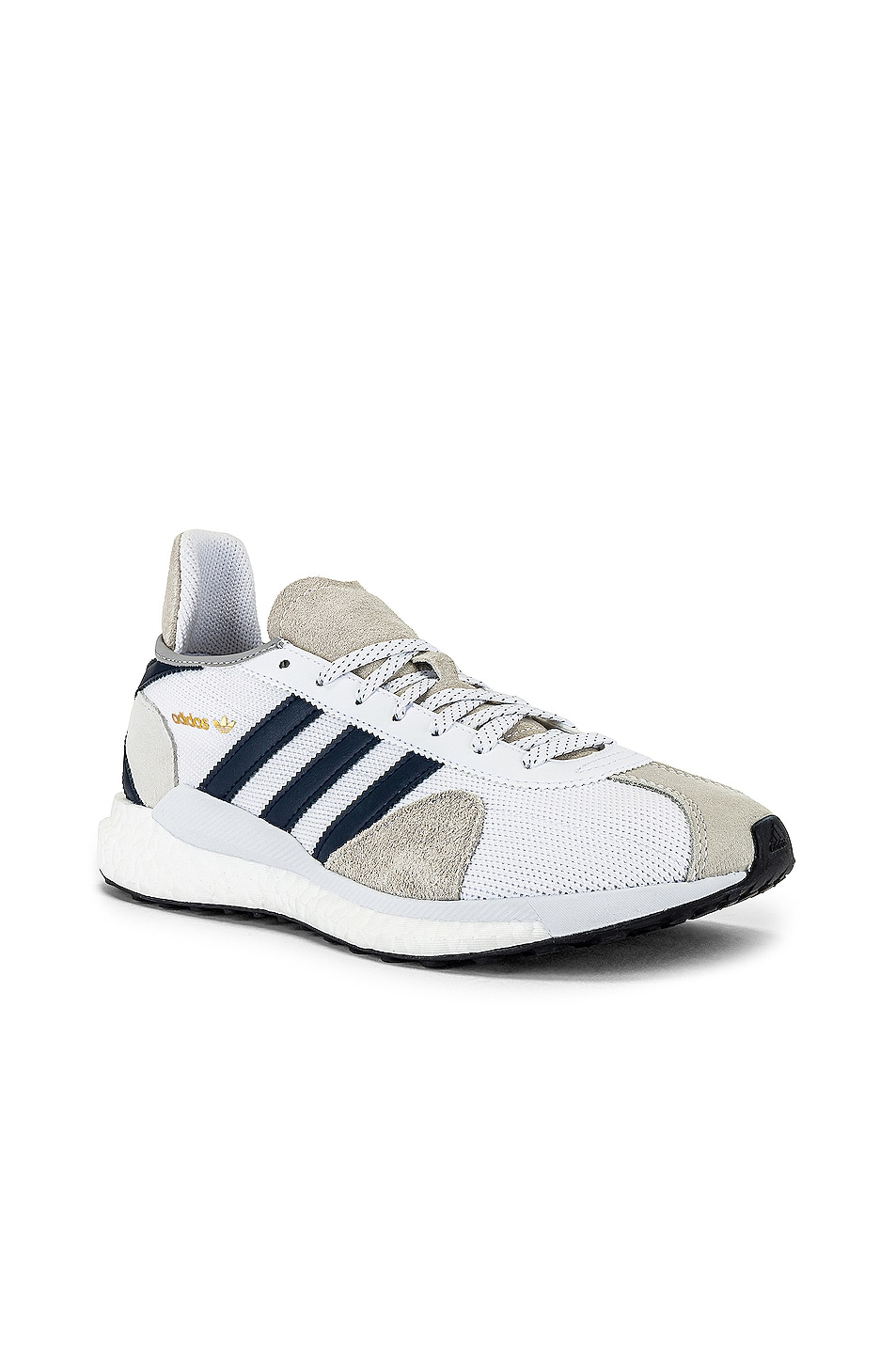 Image 1 of adidas x HUMAN MADE Tokio Solar Sneaker in White & Navy