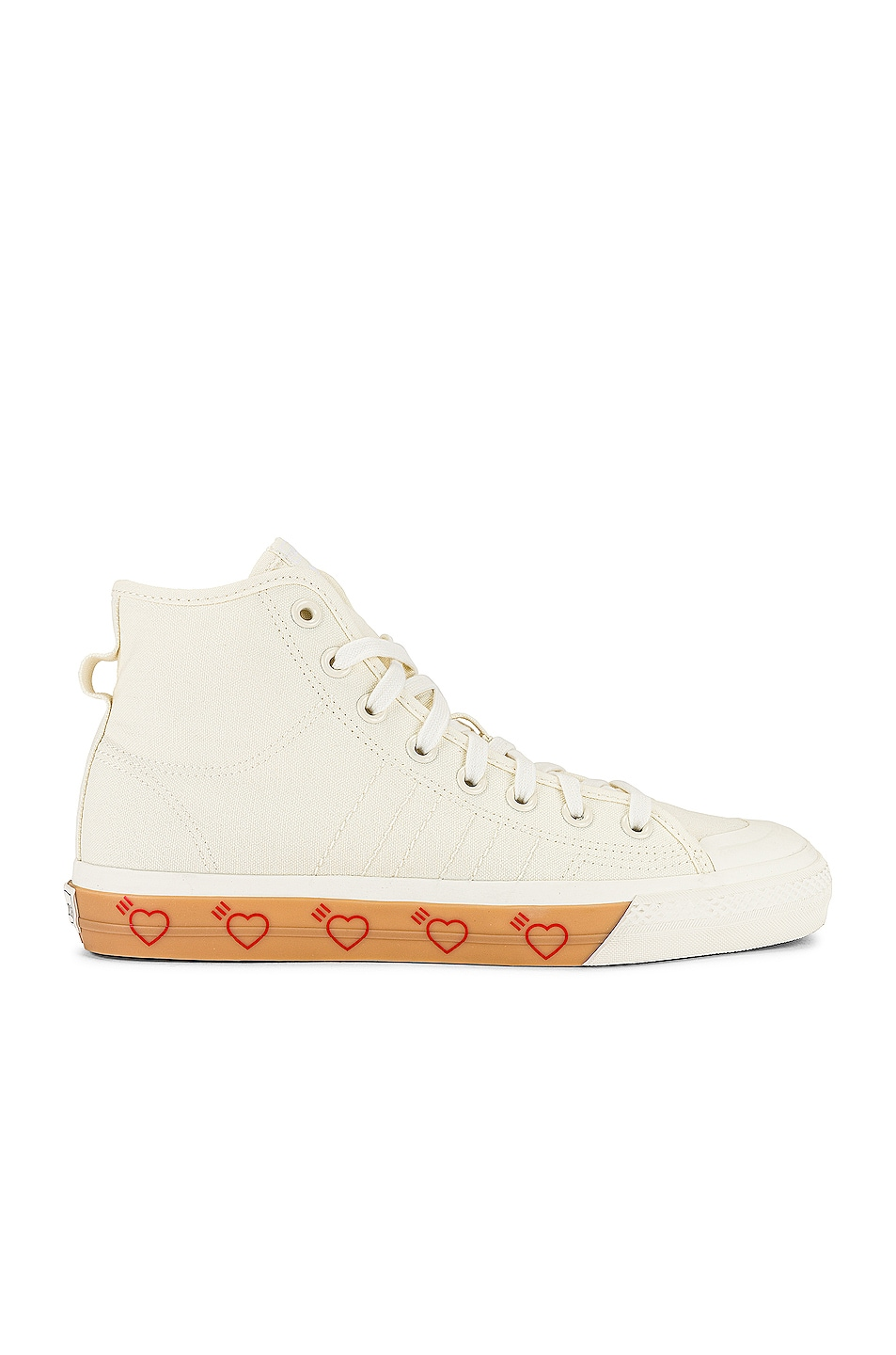 Image 1 of adidas x HUMAN MADE Nizzia Hi Top Sneaker in Off White