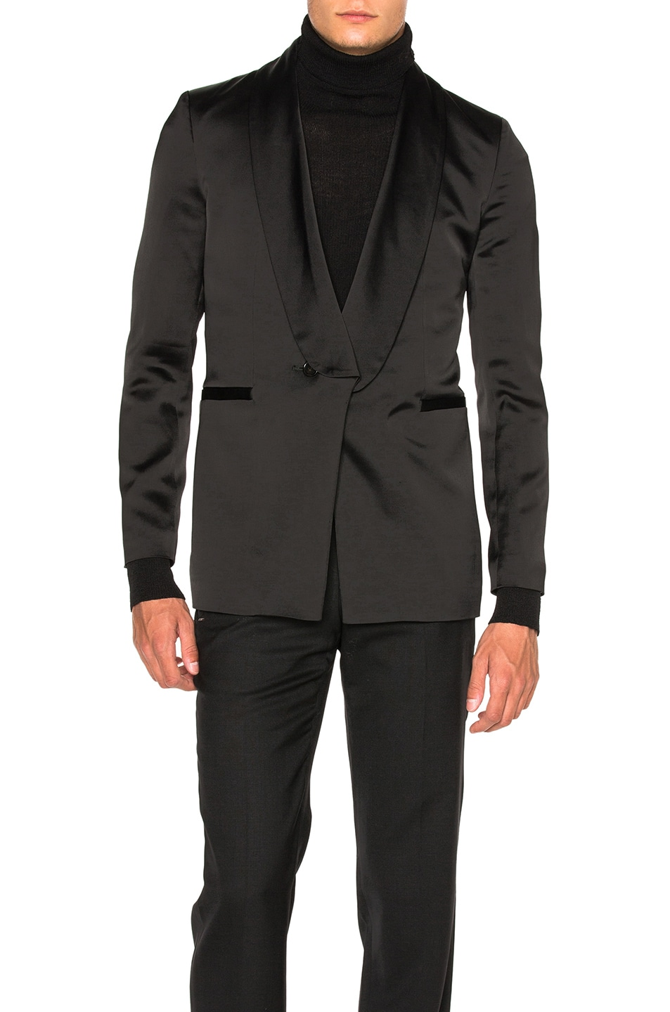 Image 1 of Ann Demeulemeester Shawl Collar Evening Jacket in Black