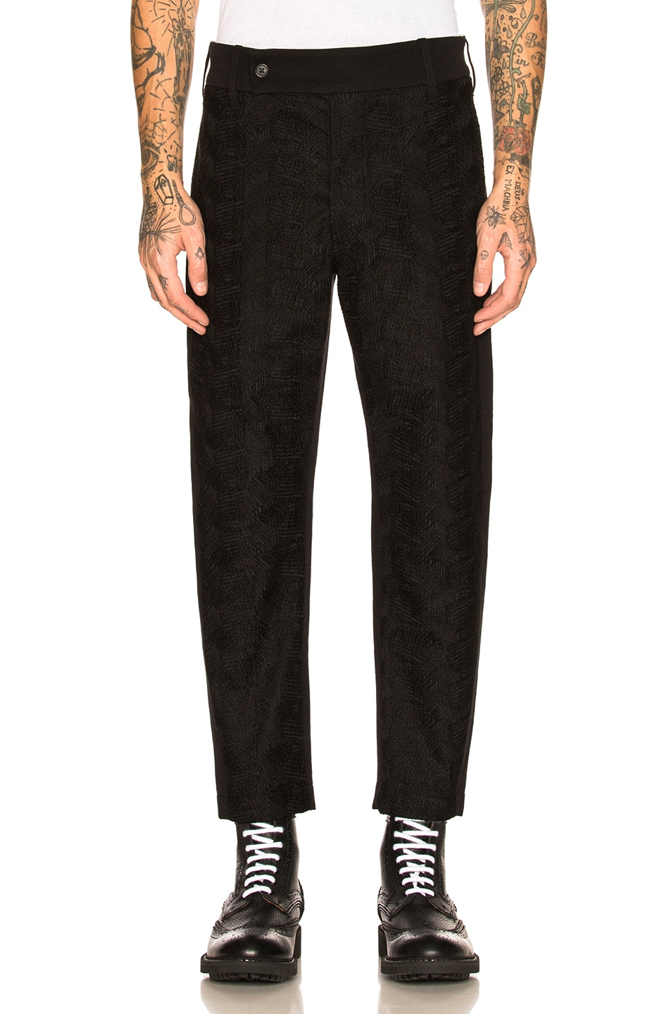 Image 1 of Ann Demeulemeester Flat Front Trousers in Black