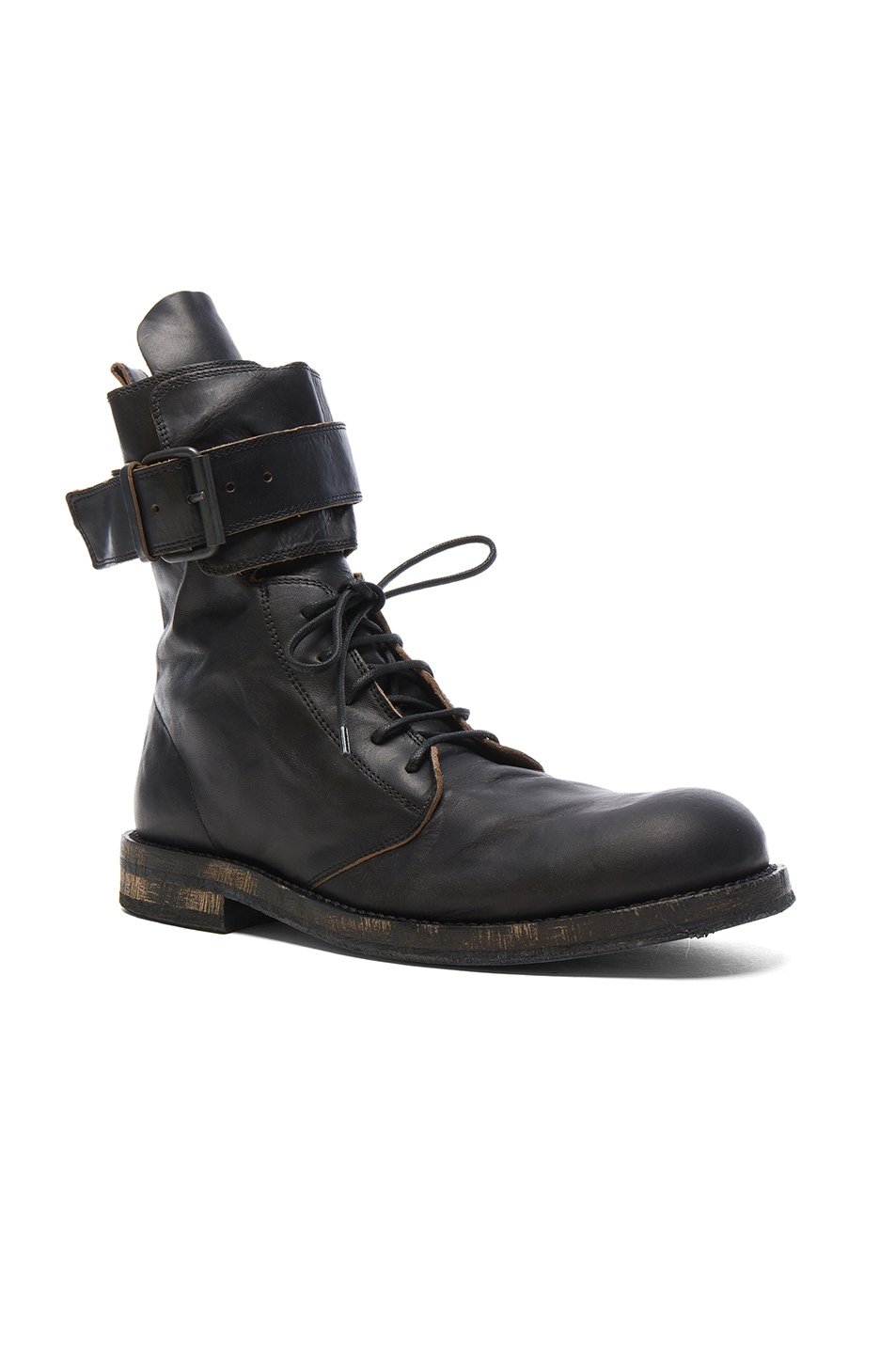 Image 1 of Ann Demeulemeester Leather Boots in Black