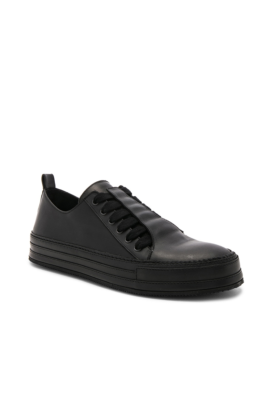 Black Leather Sneakers Ann Demeulemeester COsW8
