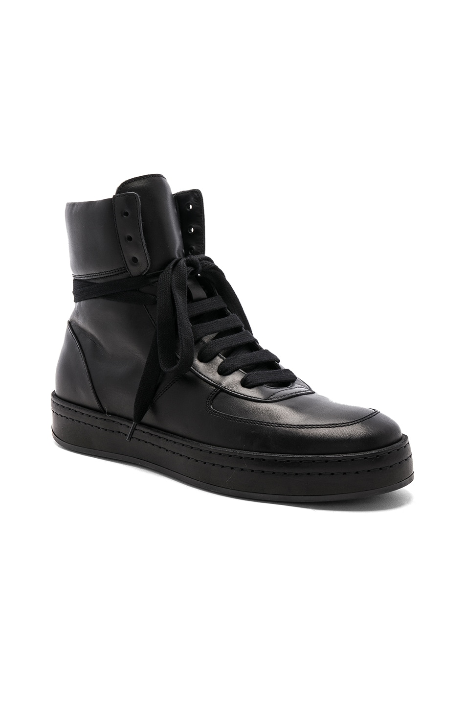 leather top sneakers - Black Ann Demeulemeester UdjDZaM