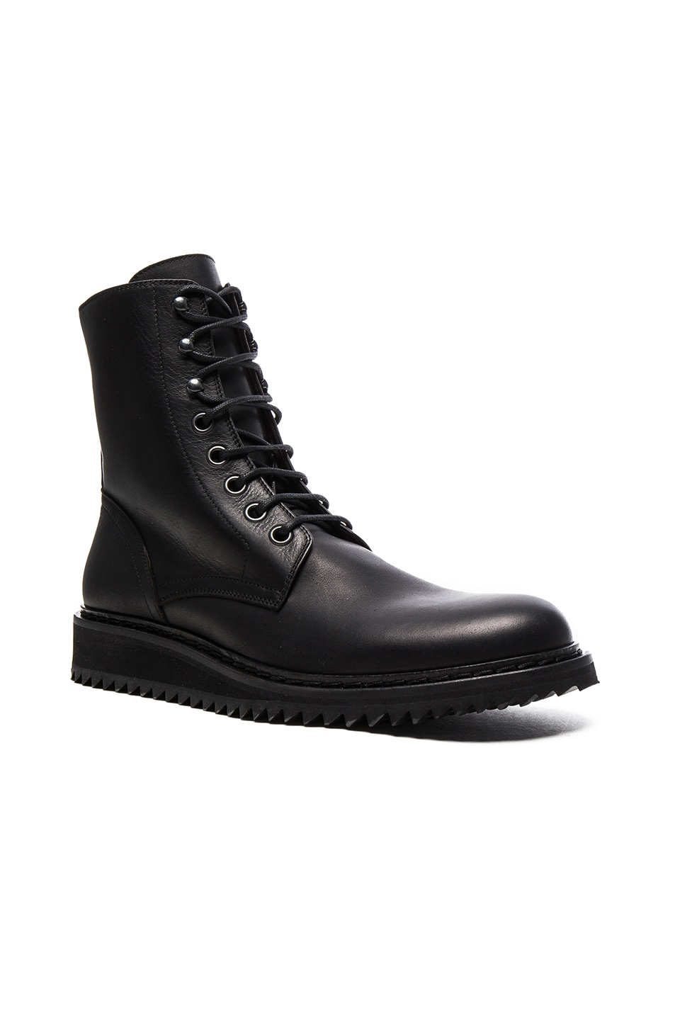 ANN DEMEULEMEESTER Leather Lace-Up Boots 0ZHKQ9
