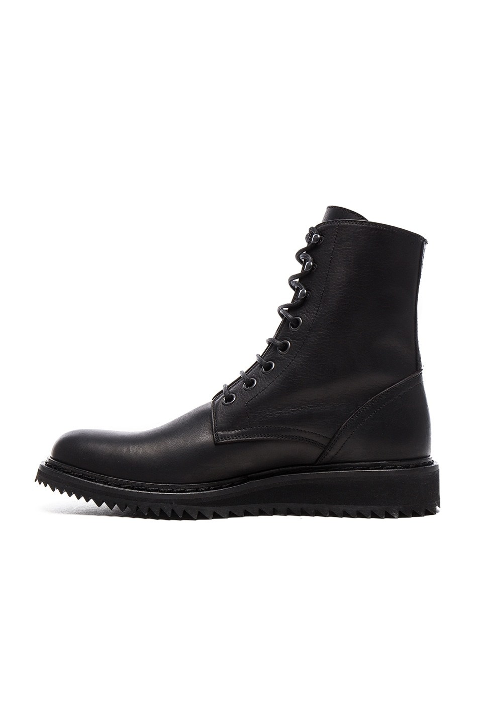 Ann Demeulemeester Leather Combat Booties cheap sale visit new authentic online free shipping get to buy 7j3S3