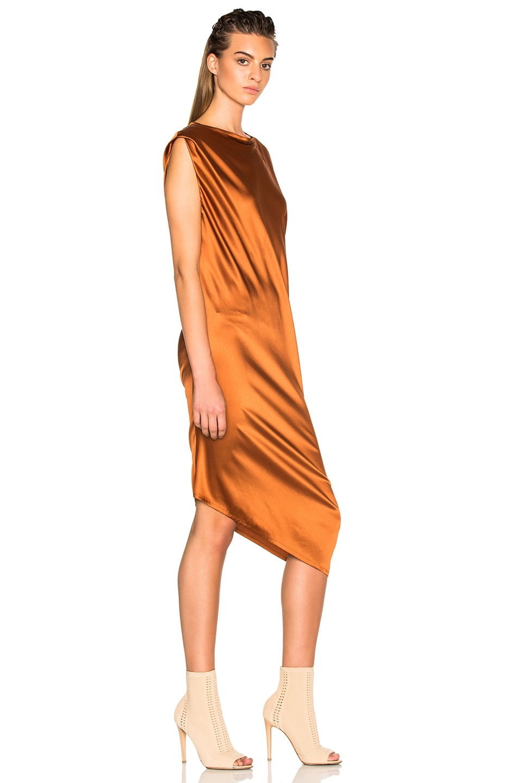 Image 3 of Ann Demeulemeester Drape Dress in Rusty