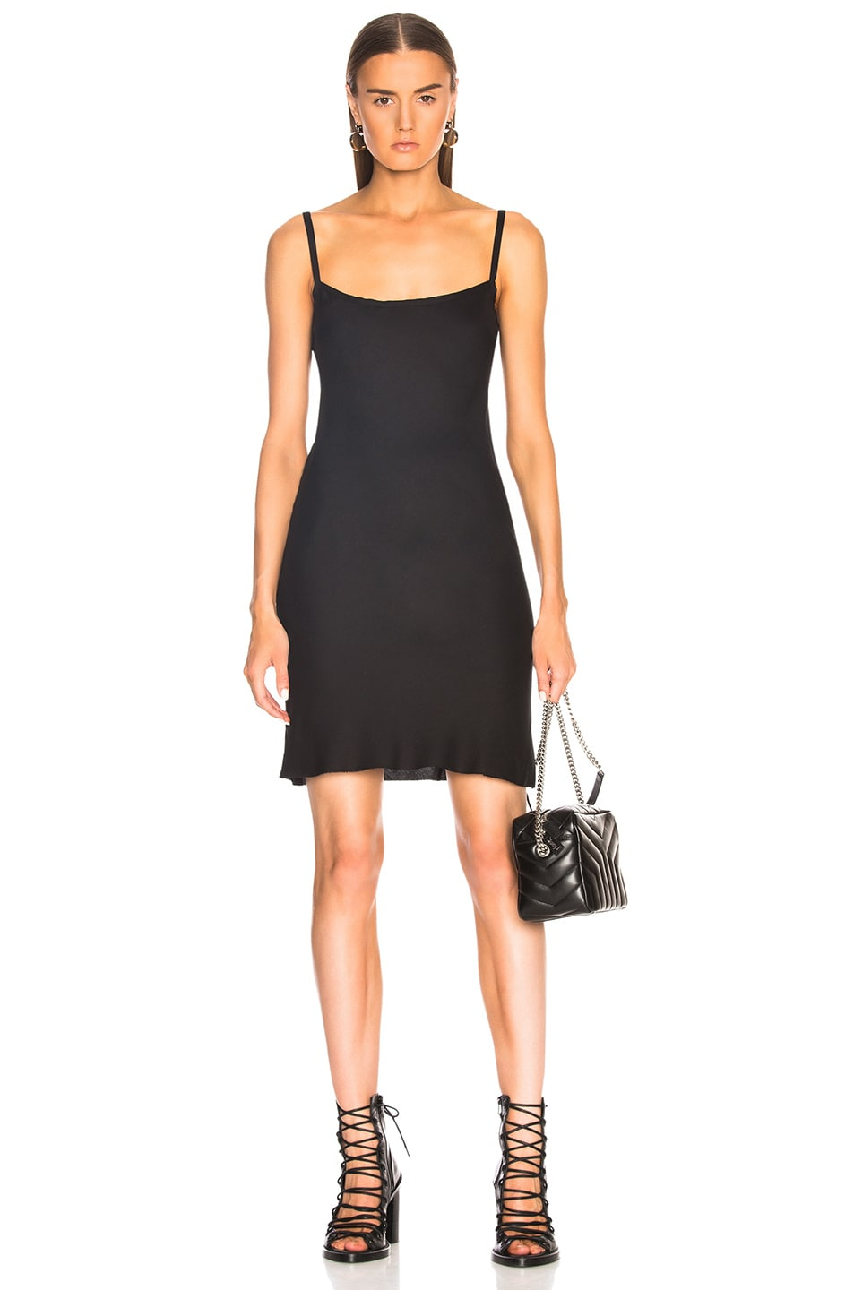 Ann Demeulemeester Slip Dress in Black