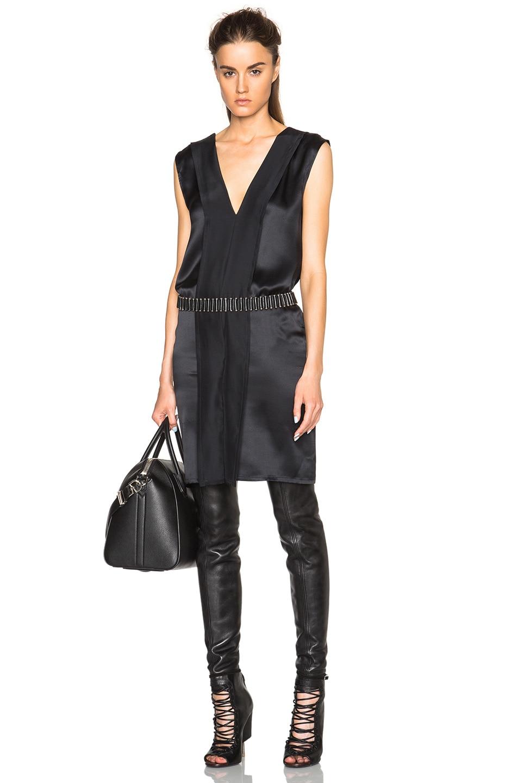 Image 1 of Ann Demeulemeester V Neck Tank Dress in Black