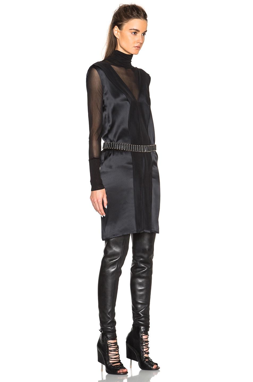 Image 3 of Ann Demeulemeester V Neck Tank Dress in Black