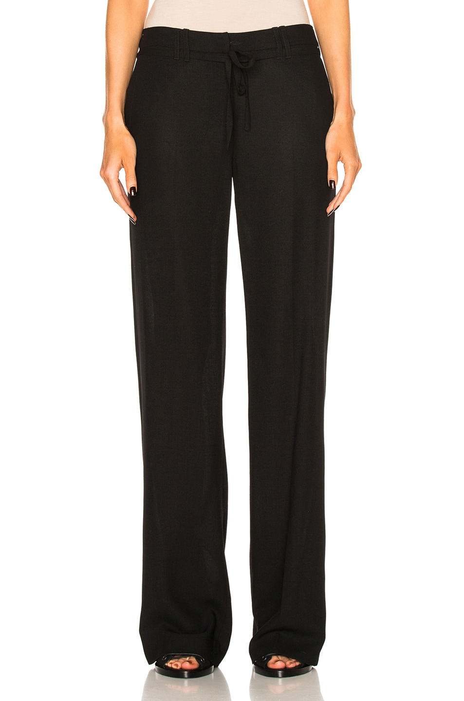 Image 1 of Ann Demeulemeester Drawstring Trousers in Black