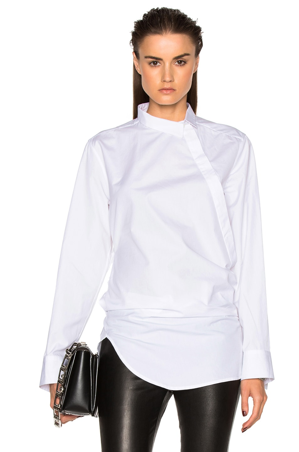 Image 1 of Ann Demeulemeester Wrap Blouse in White