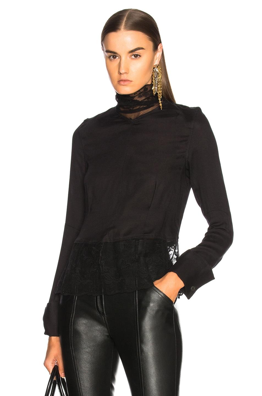 Ann Demeulemeester Turtleneck Blouse in Black