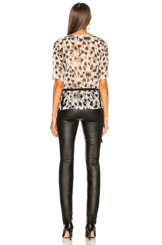 b876d5c87927 Image 5 of Ann Demeulemeester Leopard Print Blouse in Off White & Black