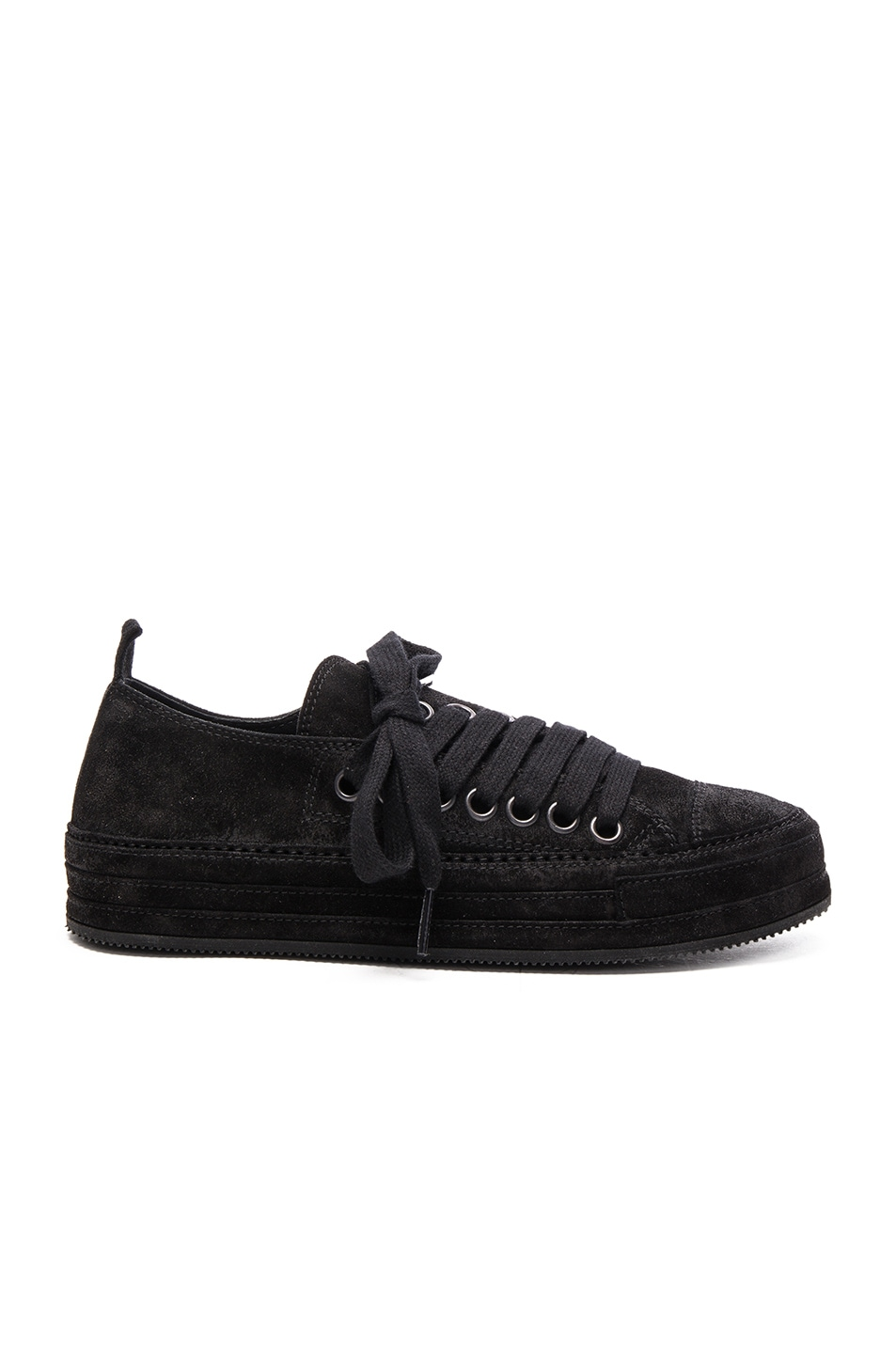 Image 1 of Ann Demeulemeester Suede Sneakers in Black