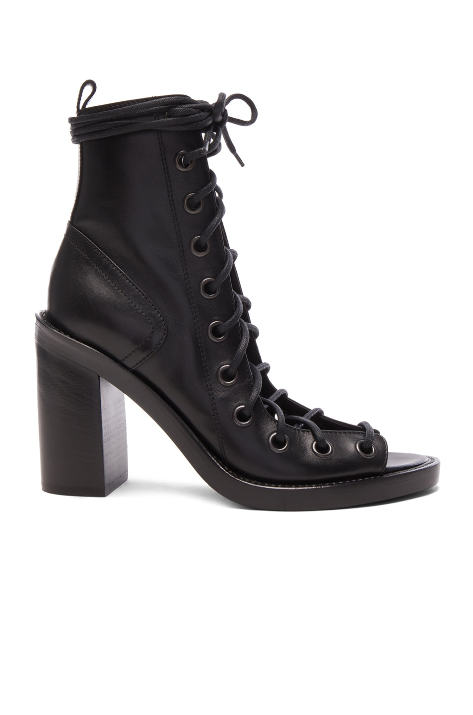 Image 1 of Ann Demeulemeester Lace Up Heels in Black