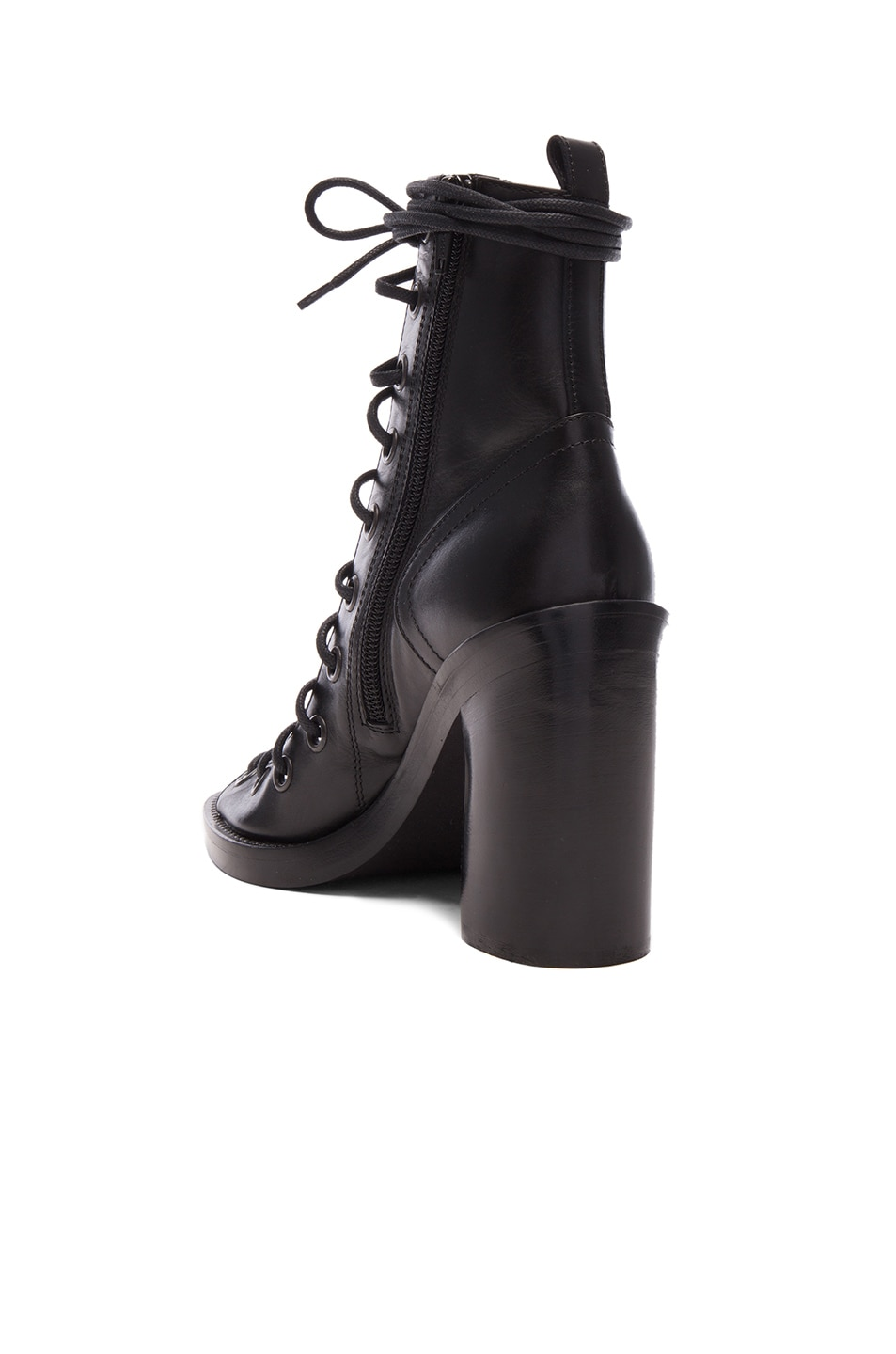 Image 3 of Ann Demeulemeester Lace Up Heels in Black