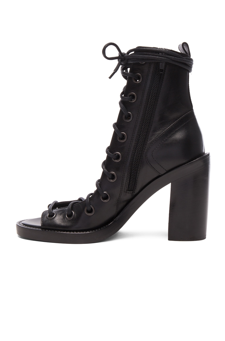 Image 5 of Ann Demeulemeester Lace Up Heels in Black