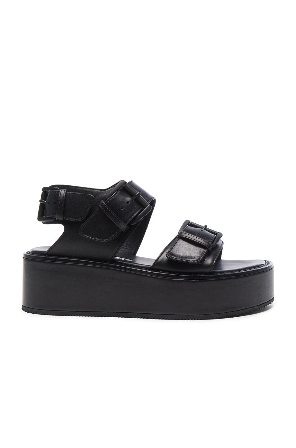 pay with paypal cheap price top quality Ann Demeulemeester Leather Platform Sandals uKI5Itw4