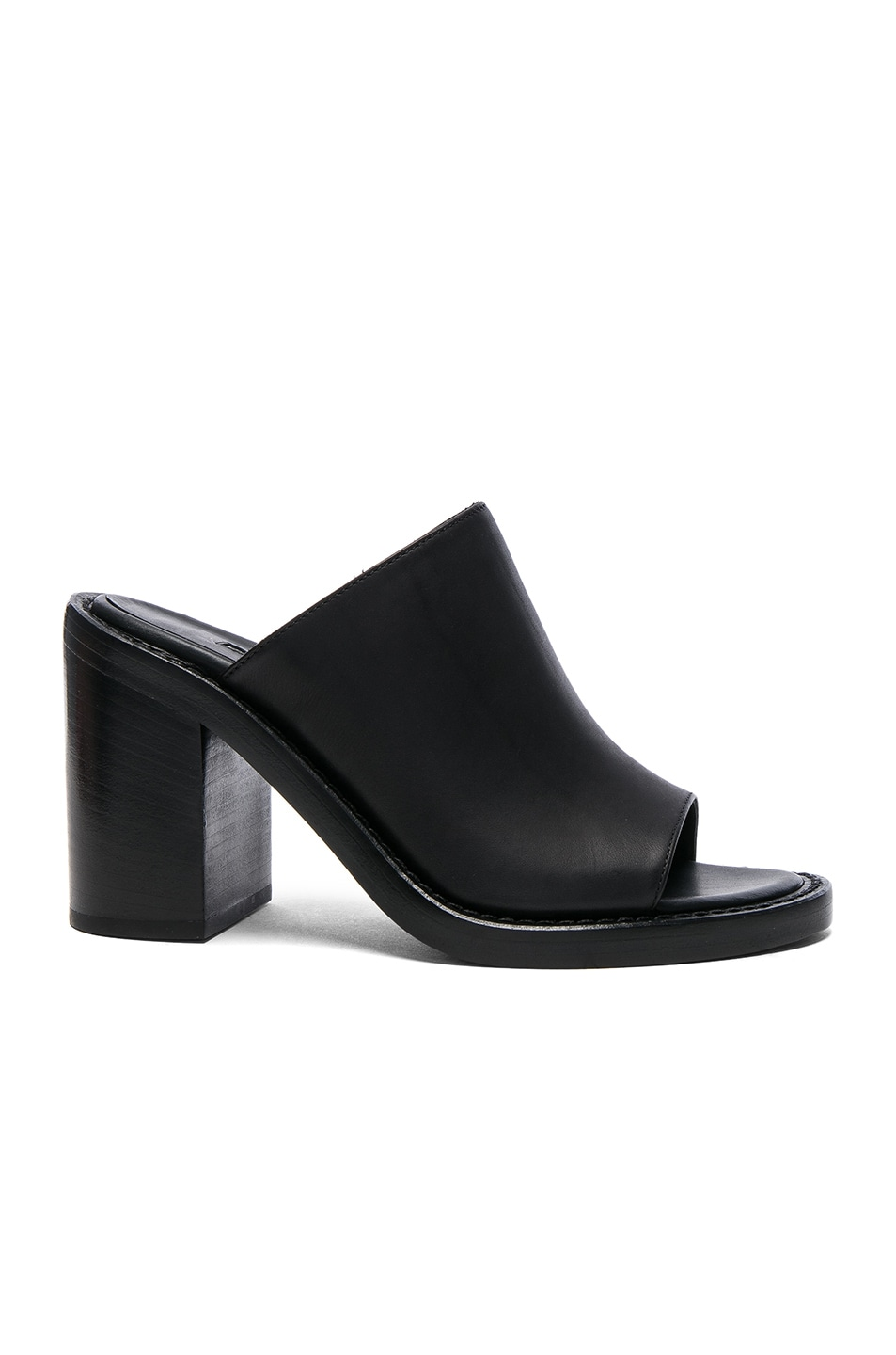 Image 1 of Ann Demeulemeester Leather Mules in Black