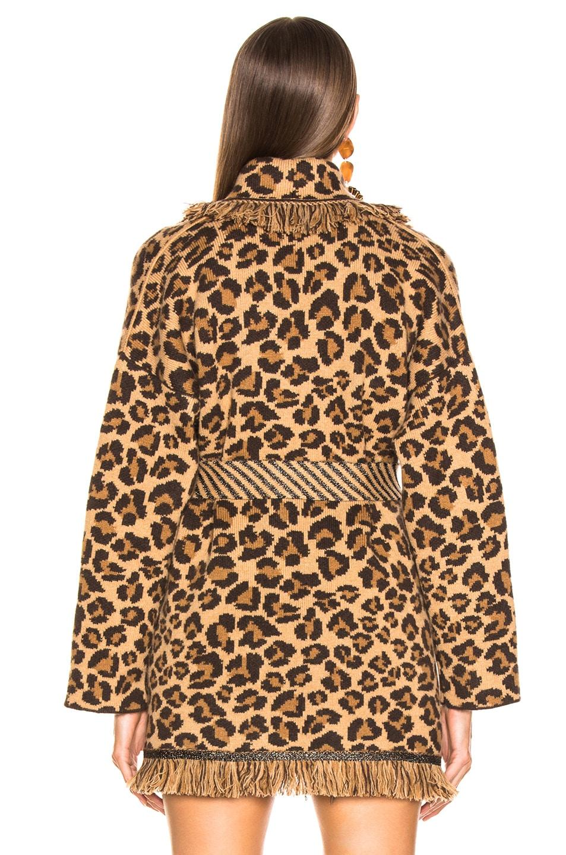 Image 4 of ALANUI Animalier Oversized Jacquard Cardigan in Cinnamon & Black