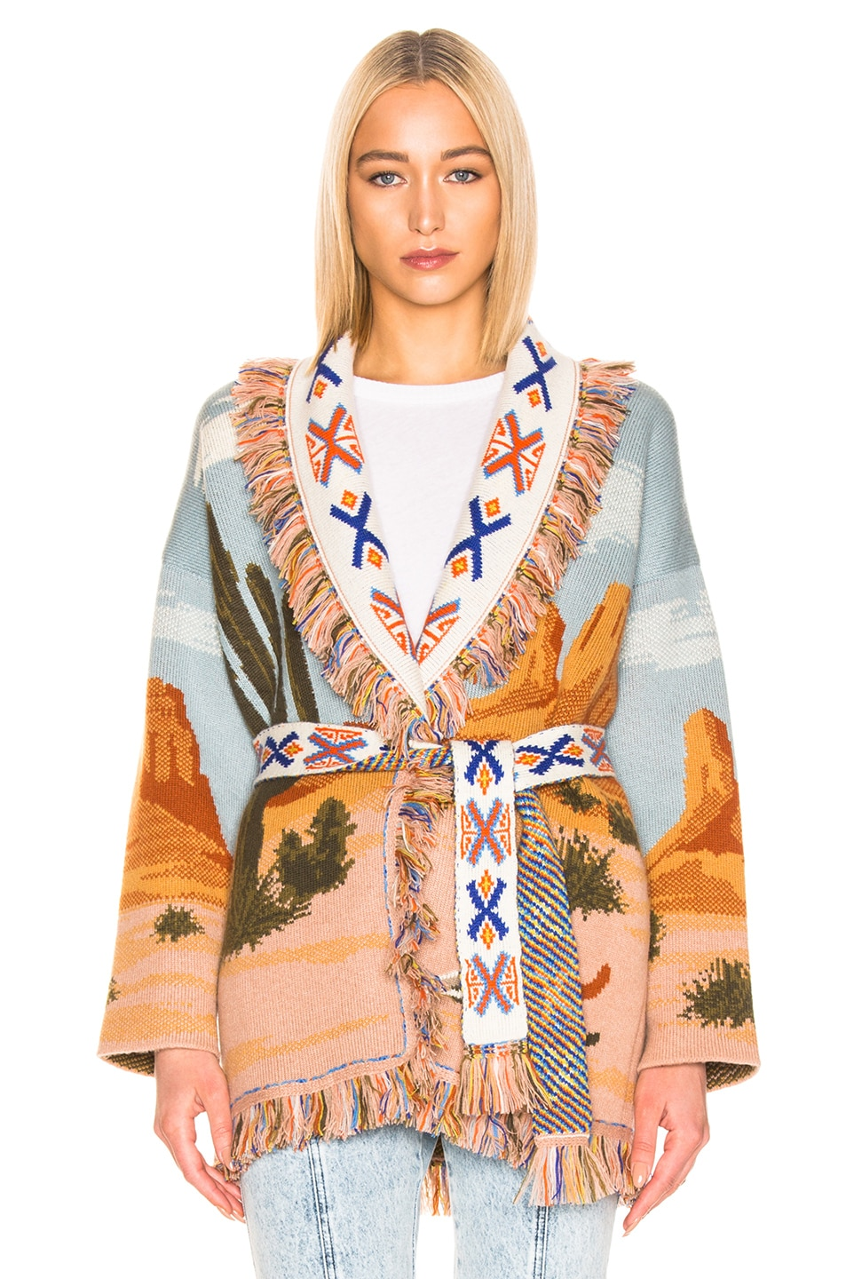 Image 2 of ALANUI Canyon Sunrise Cardigan in Desert