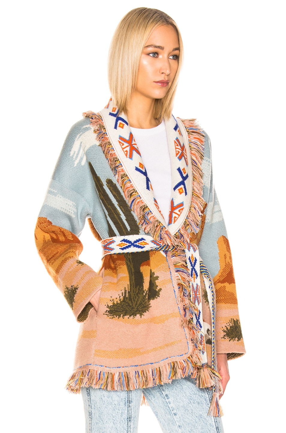 Image 3 of ALANUI Canyon Sunrise Cardigan in Desert