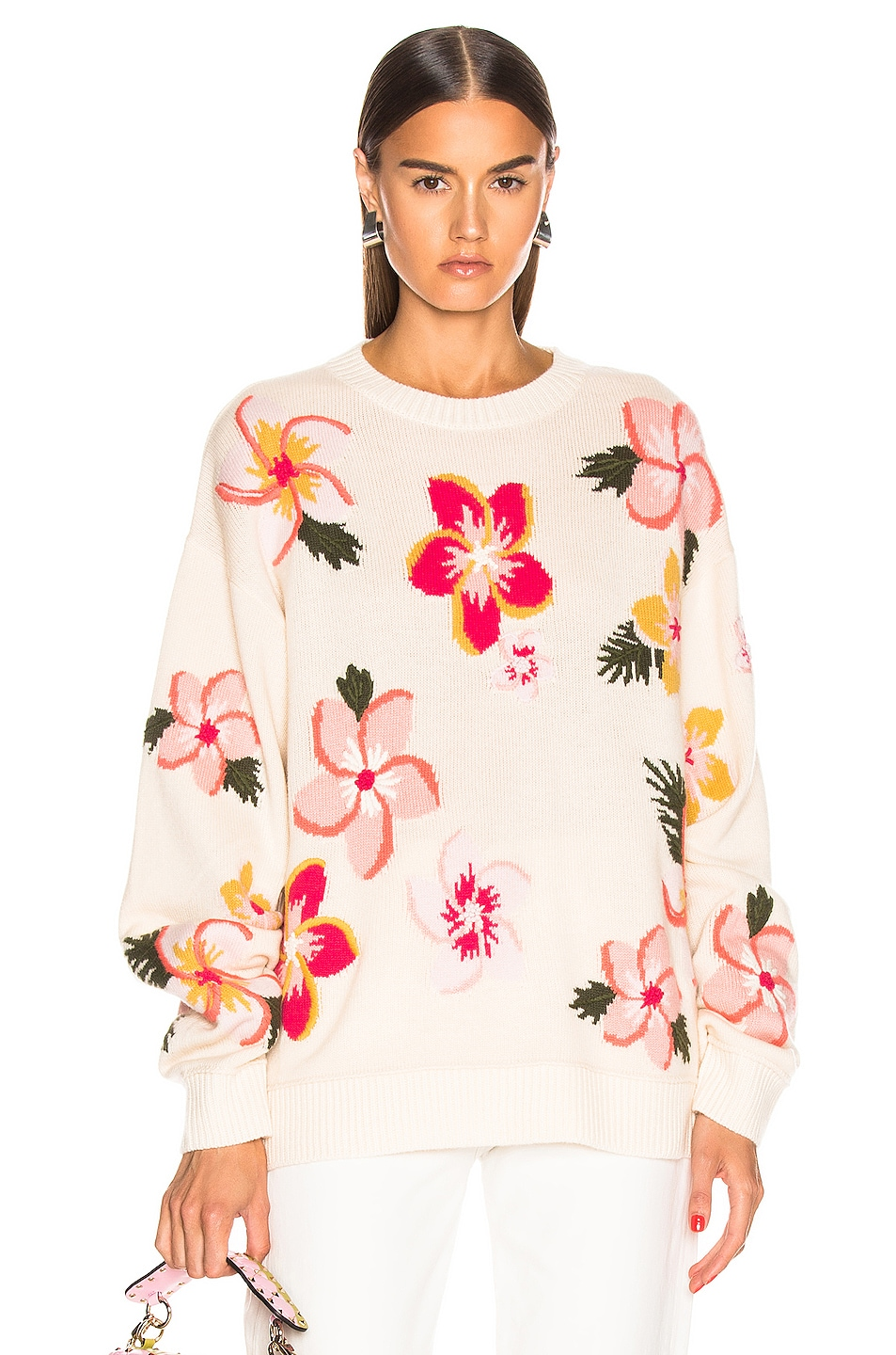 Image 1 of ALANUI Floral Sweater in White