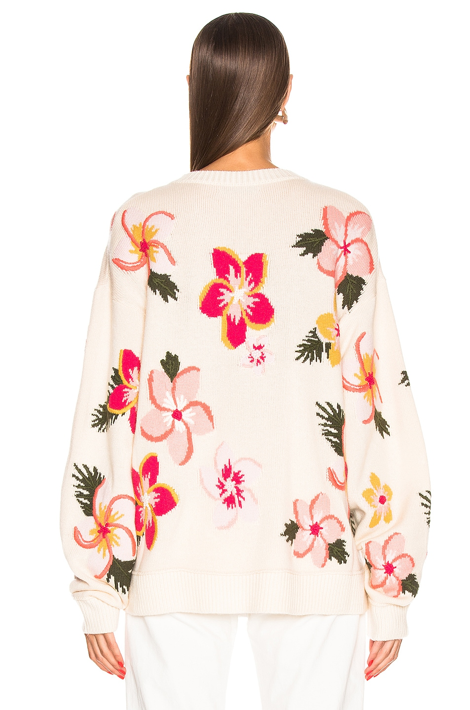 Image 3 of ALANUI Floral Sweater in White