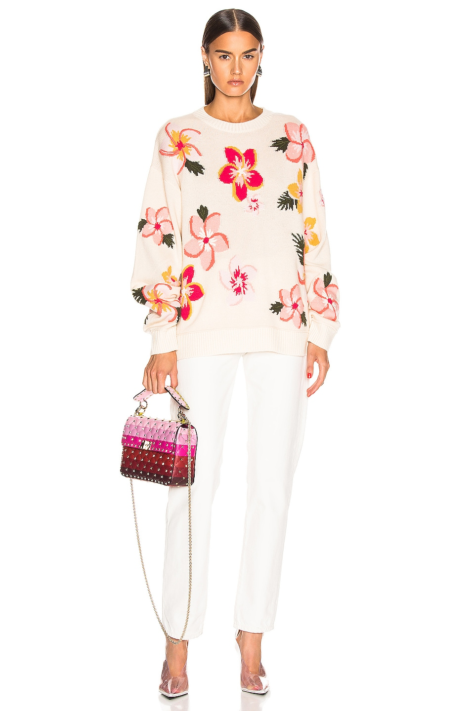 Image 4 of ALANUI Floral Sweater in White