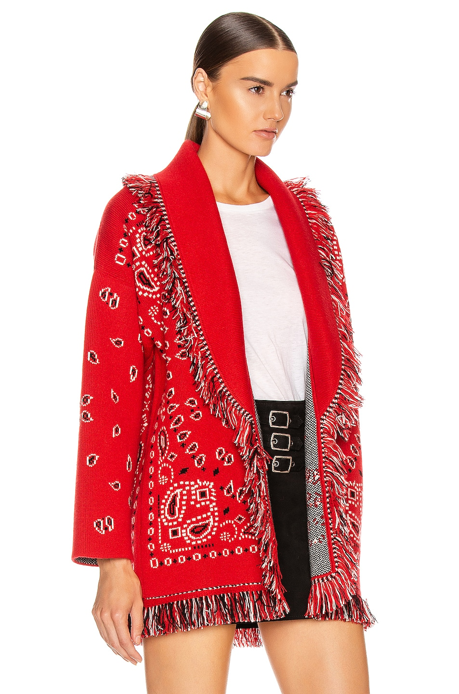 Image 3 of ALANUI Bandana Cardigan in Red