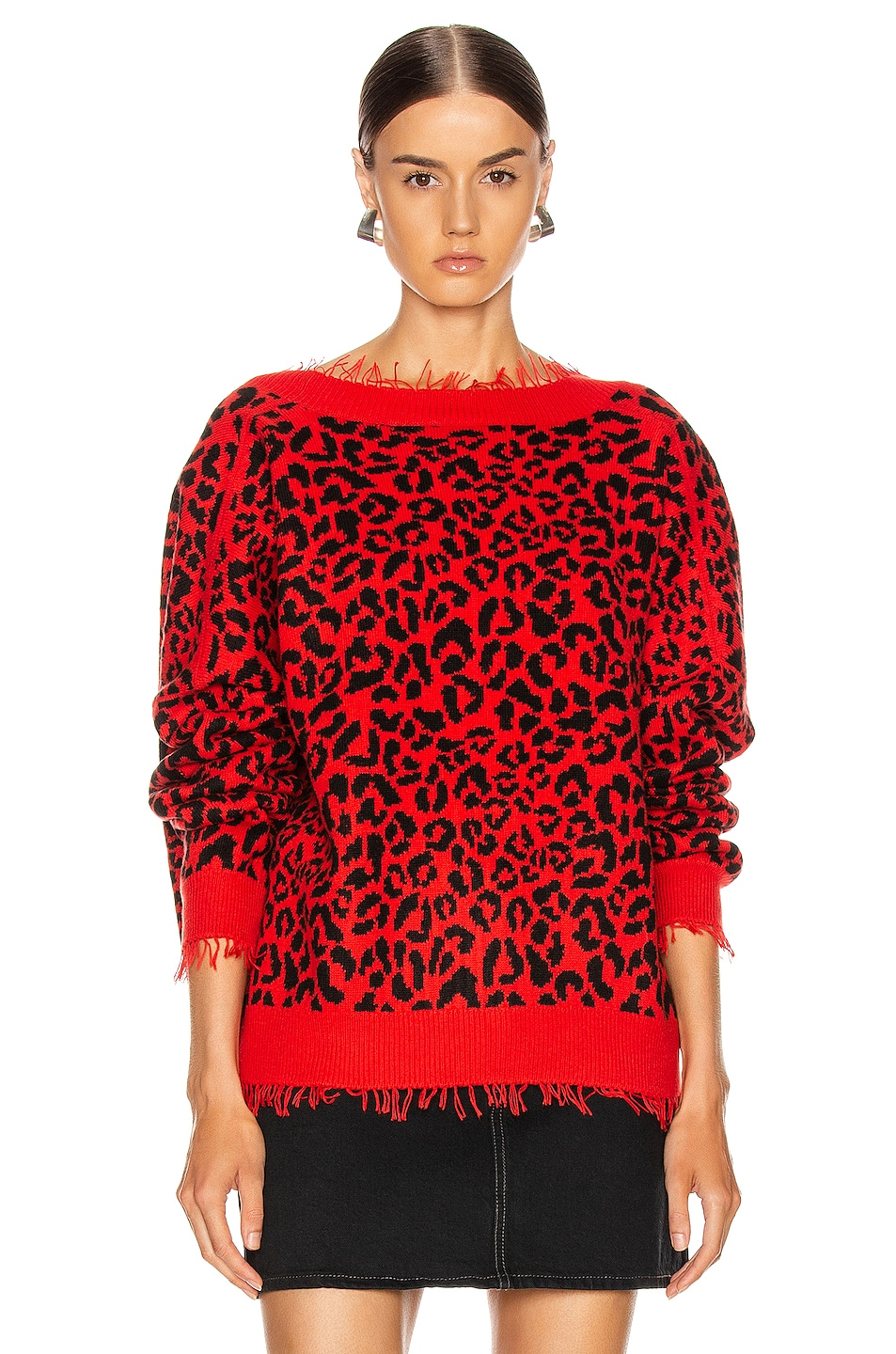 Image 2 of ALANUI Leopard Sweater in Red
