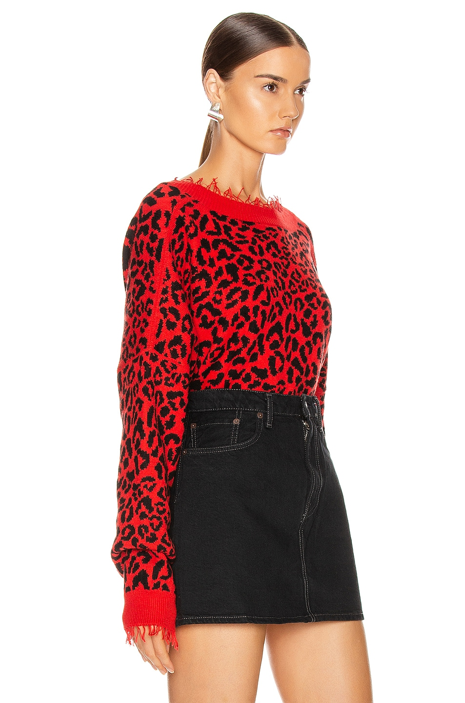 Image 3 of ALANUI Leopard Sweater in Red