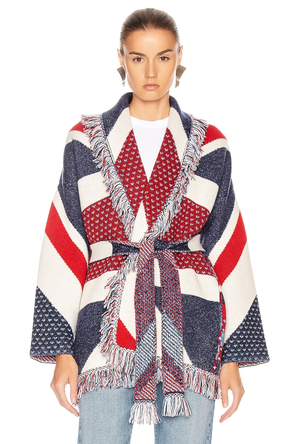 Image 1 of ALANUI Union Jack Cardigan in Multicolor