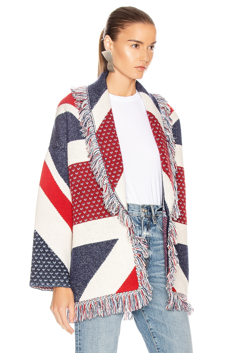 Image 3 of ALANUI Union Jack Cardigan in Multicolor