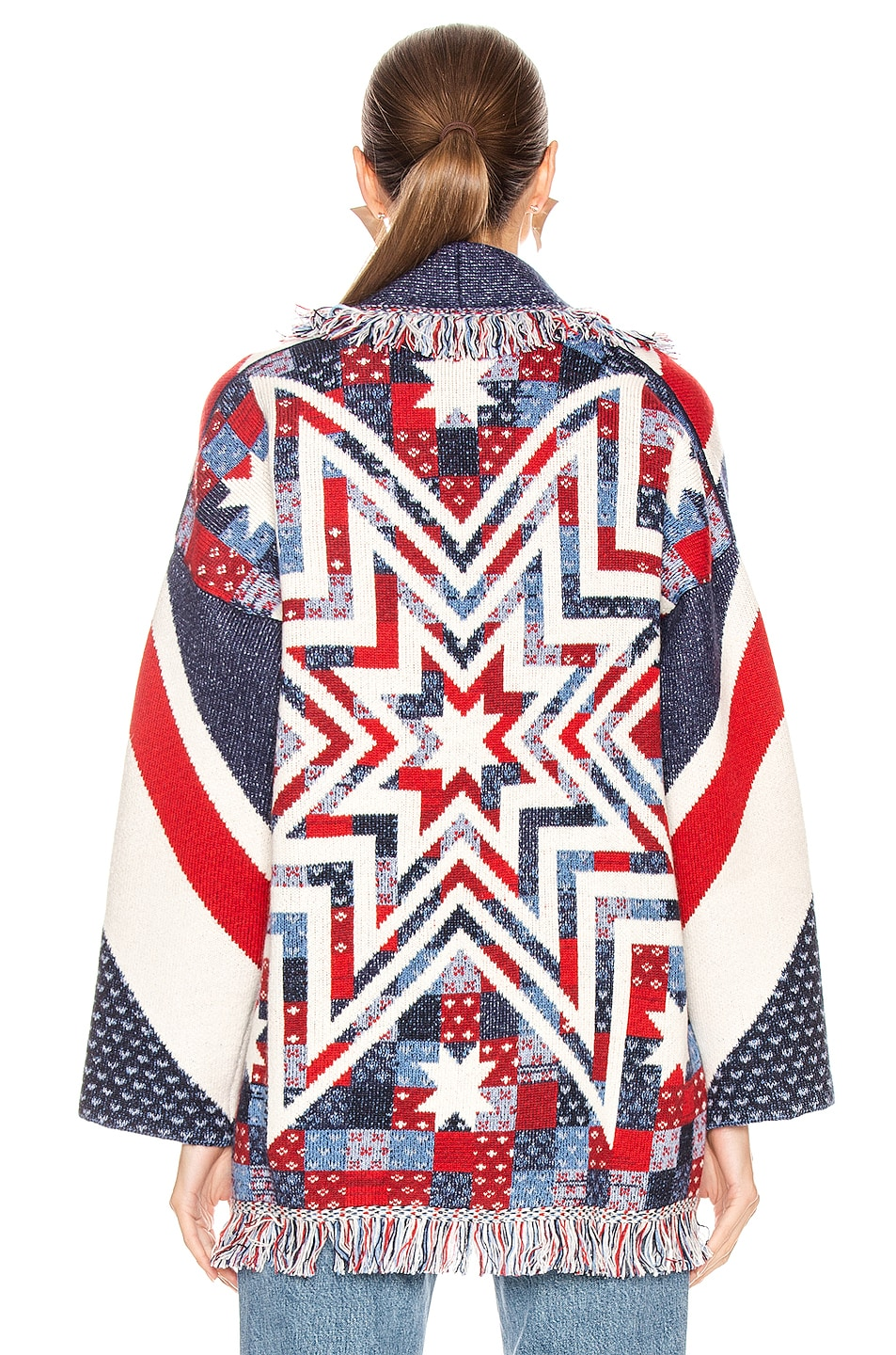 Image 4 of ALANUI Union Jack Cardigan in Multicolor