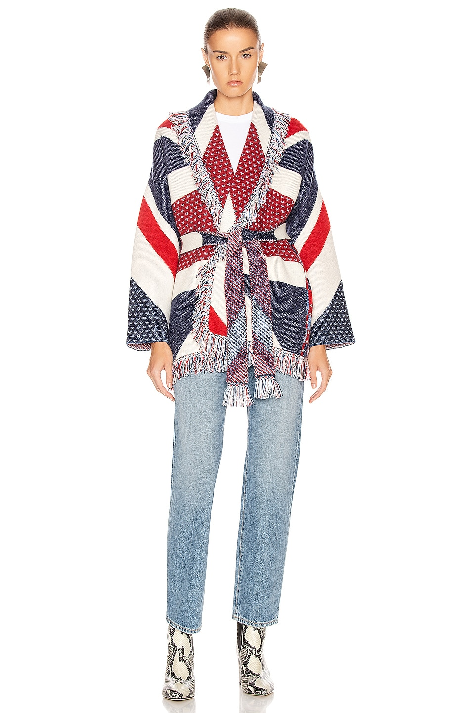 Image 5 of ALANUI Union Jack Cardigan in Multicolor